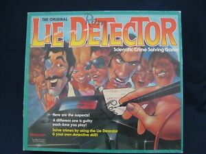 Original Lie Detector Board Game by Pressman (1987) 100% COMPLETE AND WORKING