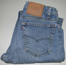 Levis 505 Regular Fit Straight Leg 34 X 34 Actual 34 x 33.5 Made in USA Med Blue