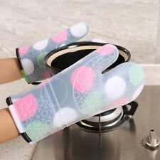 1PCS Heat Resistant Silicone Kitchen Gloves Oven Mitts Thicker Silicone Cooking