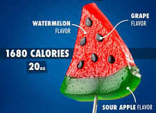 Gummy Watermelon Slice On a Stick Realistic Party Candy Gift 1.25 lbs NEW