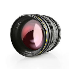 Kamlan 50mm F1.1 APS-C Large Aperture Manual Focus Lens for Sony E-Mount Cameras