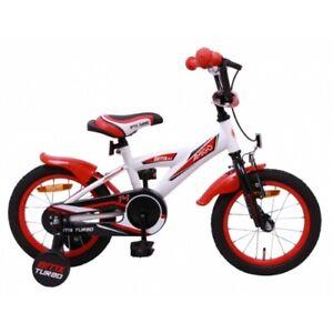 Amigo BMX Turbo - Kinderfahrrad für Jungen - 14 zoll - ab 3-4 Jahre - Weiß
