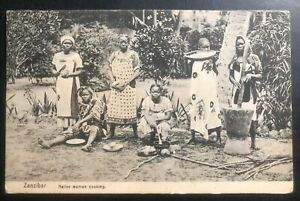 1924 Zanzibar RPPC Postcard cover to Lamasco KY USA Native Woman Cooking