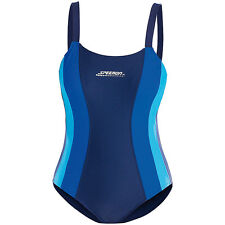 Sportbadeanzug: Sportlicher Badeanzug, blau-türkis, Größe S/36 (Pool-Bekleidung)