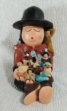 Vintage Storyteller Sculpture Holding Seven Children