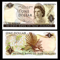 NEW ZEALAND 1 DOLLAR REPLACEMENT P 163 d HARDIE UNC