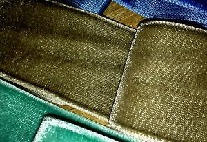 "Vintage 2"" Rayon Velvet Ribbon 1yd Made in France"