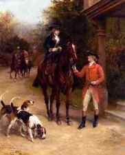Hardy Heywood A Hunting Morn A4 Print