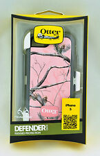 Genuine OtterBOX Defender Case with Realtree Camo for Apple iPhone 5 - AP Pink
