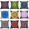 Cotton Linen Mandala Printing Pillow Case Sofa Office Cushion Cover Home Decor