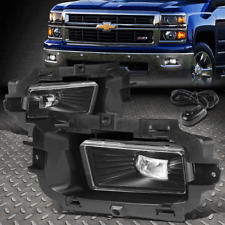 [HI-POWER LED] FOR 2014-2015 CHEVY SILVERADO 1500 CLEAR FOG LIGHT/LAMPS+SWITCH