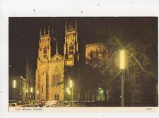 York Minster Floodlit Postcard 310b