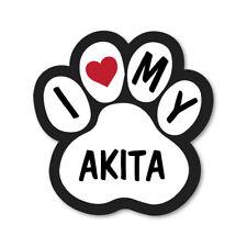 I Love My Akita Car Van Lorry Wall Vinyl Self Adhesive Stickers