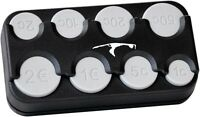 Schwarze Euro Münzbox Münzen Halter SYLT Münzsortierer Spender HR Art. 856S
