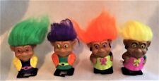 4 VINTAGE WINDUP WALKING TROLLS TOYS BRAND NEW MINT NEVER USED ANTIQUE