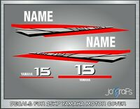 Yamaha 15hp Stroke Outboard Engine Decals Kit - Stickers
