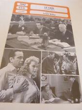 FICHE CINEMA,LE CAÏD(the big shot) LEWIS SEILER ,bogart,manning,travis ,1942