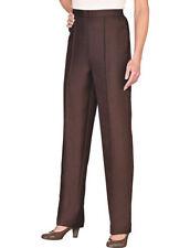 Pantaloni da donna marrone in poliestere taglia 42