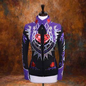 4X-LARGE  Showmanship Pleasure Horsemanship Show Jacket Rails Shirt Rodeo Queen