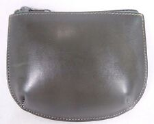 EUC~VINTAGE 1970's~70's~GUCCI~SOLID DARK GRAY LEATHER COIN PURSE/POUCH~ZIP TOP