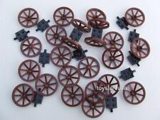 New Lego City Western Town Cowboy Wagon Wheels ( 24 Wheels 12 Axles ) Bulk Set