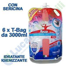 Crema Pasta Lavamani 3000ml Fluida Liquida NETTUNO 6 T-BAG Sgrassante Detergente