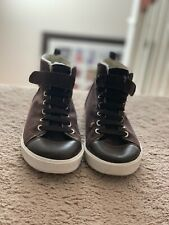 Gymboree Size 2 Fleece Lined Brown and Cream Boots - Youth