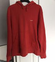 Topman Men's Red Oversized Fit 'Thanks' Hoodie - Size Medium