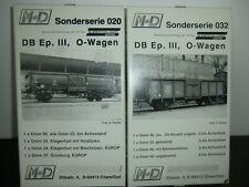 M-D M+D M&D KLEIN Modellbahn Sonderserie 020 und 032 DB 8 Wagen Omm in OVP