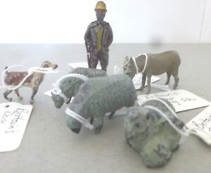 Britains - Crescent  Farmer and Sheep with Dog and Goat - Britain Farm Animals