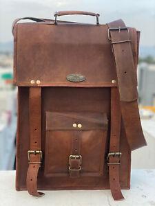 Men's Large Messenger Leather Shoulder Business Satchel Six Size's Laptop Bag