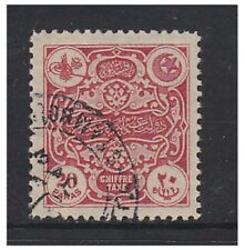 Turkey - 1914, 20p Scarlet Postage Due stamp - F/U - SG D517