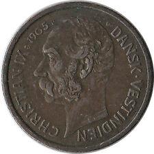 1905 Danish West Indies 10 Cents (50 Bit) Silver Coin KM#78 Mintage 175K
