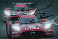 Tincknell, Krumm, Buncombe Hand Signed Nissan Nismo Photo 12x8 Le Mans 2015 1.