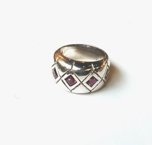 Amethyst Ring, Unique Ring, February Birthstone, Sterling Silver, Band Ring