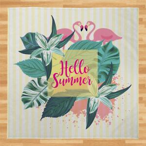 Hello Summer Flamingo Stripes [4 Colours] Soft Fleece Throw Blanket