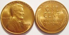 1944-D RED Toned Gem Brilliant Uncirculated Lincoln Cent Essentially Eye Clean