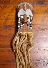 Vintage Handmade Solid Wood Tiki Polynesian African Tribal Mask Wall Hanging Art
