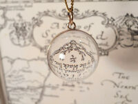 Rock Crystal Orb Pendant With Chain
