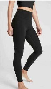 ATHLETA Elation Ultra High Rise Tight S PETITE  Black Workout Yoga Pant #502359