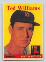 "1958  TED WILLIAMS - Topps ""REPRINT"" Baseball Card # 1 - BOSTON RED SOX"