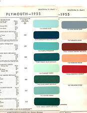 1955 PLYMOUTH PLAZA BELVEDERE SAVOY 55 PAINT CHIP ACME 2