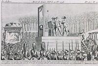 Louis 16 Guillotiné 1793 Mort Louis Capet Rare Gravure Révolution Française