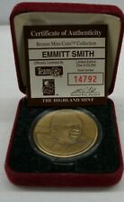 EMMITT SMITH HIGHLAND MINT BRONZE MINT-COIN with COA #14792 of 25,000
