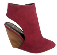 Charles David Suede Cranberry Cut Out Wedge Heel Womens Size 8 M