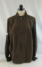 New Adidas Men's Brown Climaproof Zip-Up Windbreaker Jacket Size Medium