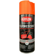 KRYLON FLUORESCENT SPRAY PAINT RED - ORANGE 3101 Bold Neon Color HIGH VISIBILITY