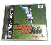 Striker Pro 2000 (Sega Dreamcast, 2000) Disc & Manual