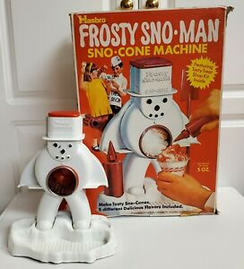 HASBRO WITH BOX Frosty Sno-Man Snow-Cone Machine vtg 1970 shaved ice RARE