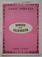 ROBERT AND ELIZABETH.RONALD MILLER.LYRIC PROGRAMME 1964.DONALD WOLFIT.JANE FIFFE